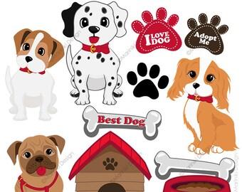 cute dog clipart etsy rh etsy com dog clipart free dog clipart jpg