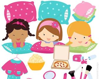 pajama party clipart etsy rh etsy com christmas pajama party clipart pajama party clipart images