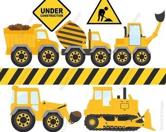 dump truck clipart constructions clip art dump truck etsy