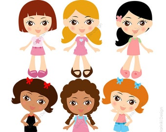 kids spa clipart girls day spa clip art slumber party etsy