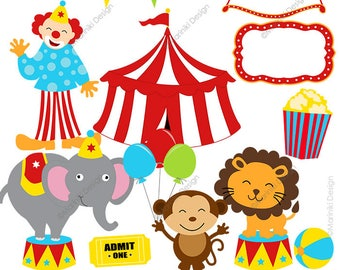 Circus Clipart Cute Clip Art Carnival Vintage Images For Invitations
