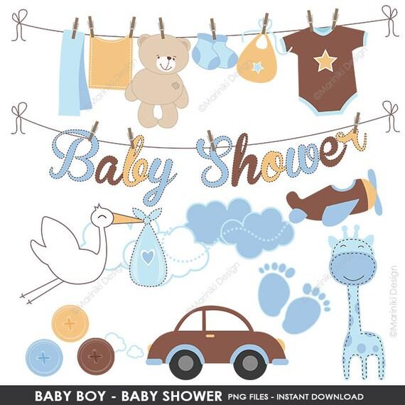 Baby Clipart Baby Dusche Clipart Baby Boy Clipart Blau Etsy