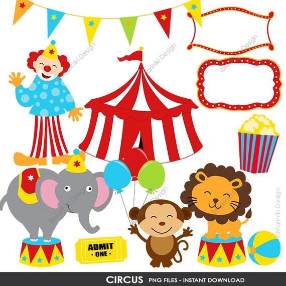 circus clipart cute circus clip art carnival clipart etsy rh etsy com vintage circus elephant clip art vintage style circus clipart