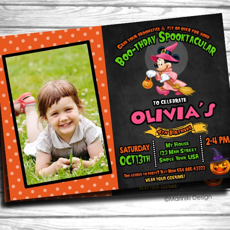 Halloween Invitation First Birthday