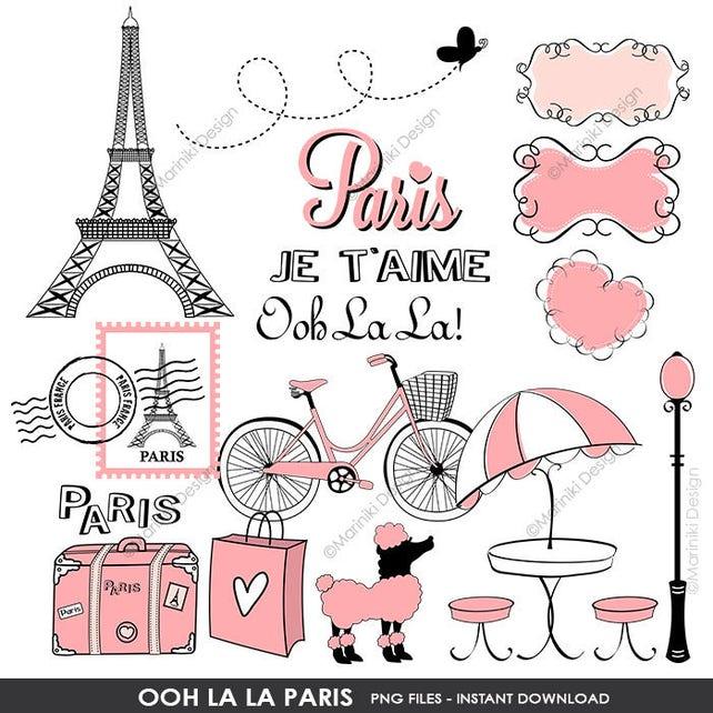 Paris Clip Art Boutique Store Front Clipart Ooh La La Paris Etsy