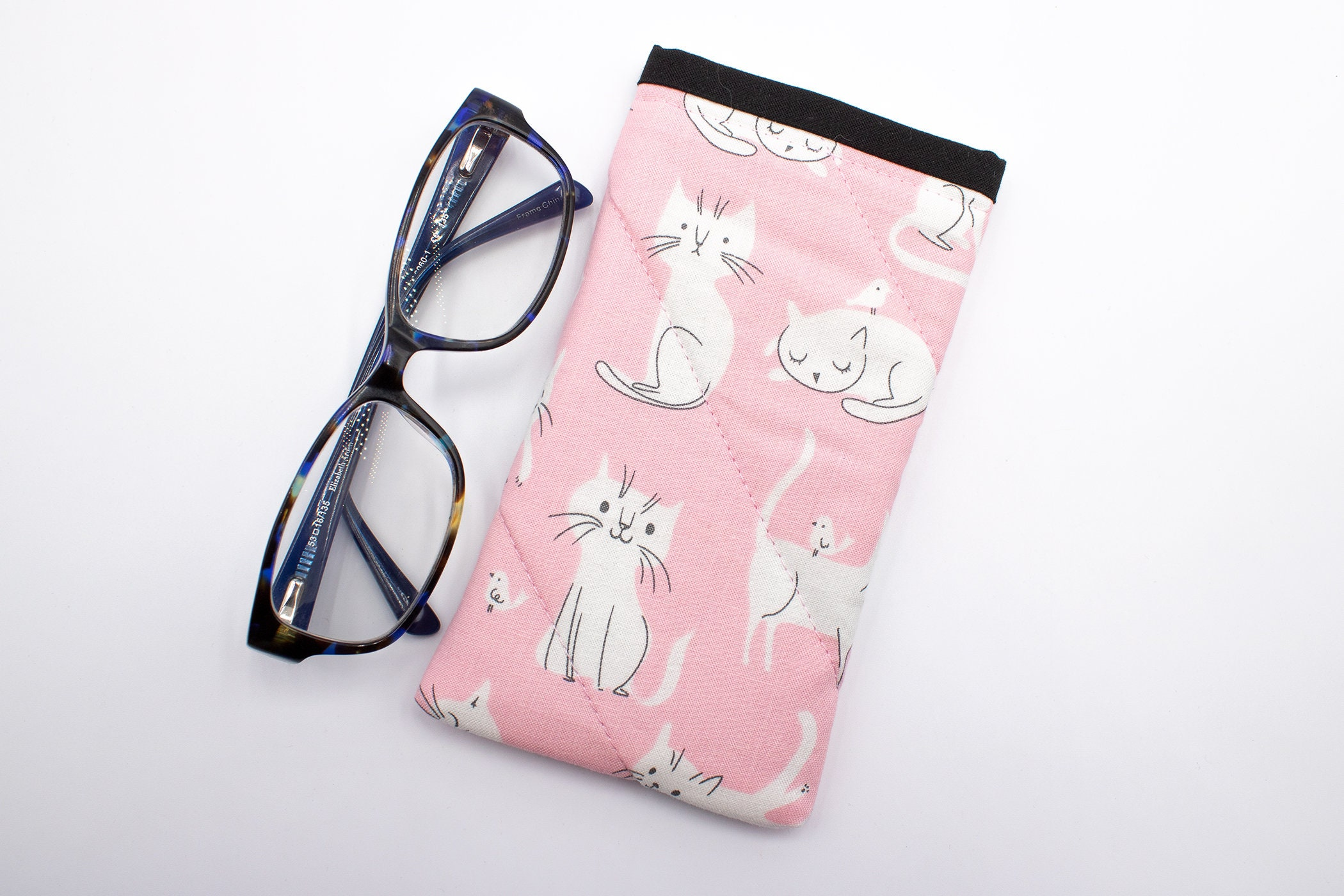 ikat Handmade ikat eyeglass case white-beige eyeglass case handmade accessory Handwoven ikat