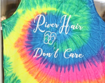 "Tie-Dyed Tank ""River Hair Don't Care"