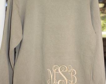 Embroidered Comfort color sweatshirt