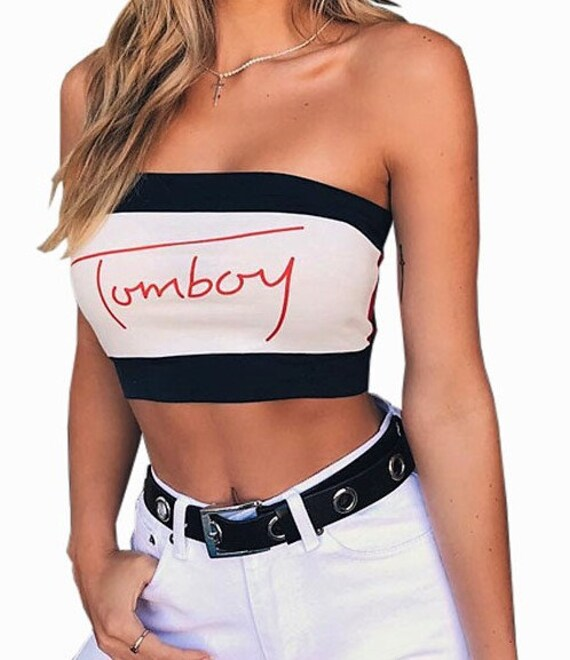 7d59deaf1e Tommy Hilfiger Crop Top Inspired Tommy Hilfiger Tube Top