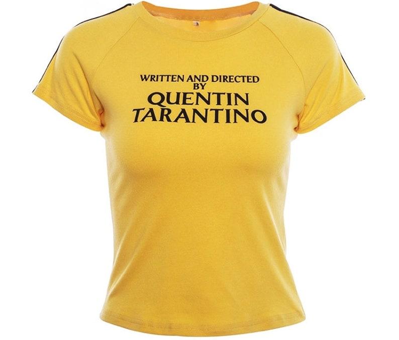 0b8e872a78837 Written by Quentin Tarantino Crop Top 90s Vintage Crop Top