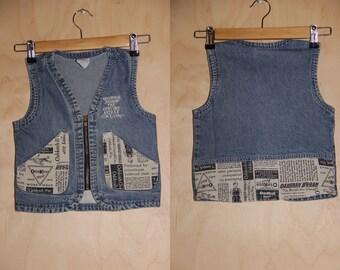 794eae75ae4 Vintage OshKosh B gosh kids jean vest (5)
