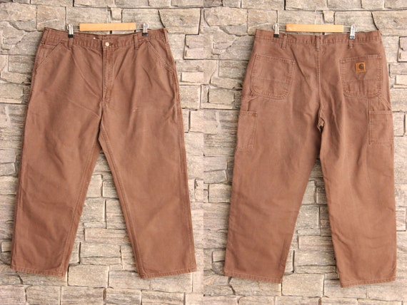 Vintage Brown Carhartt Carpenter Pants , 42 Waist
