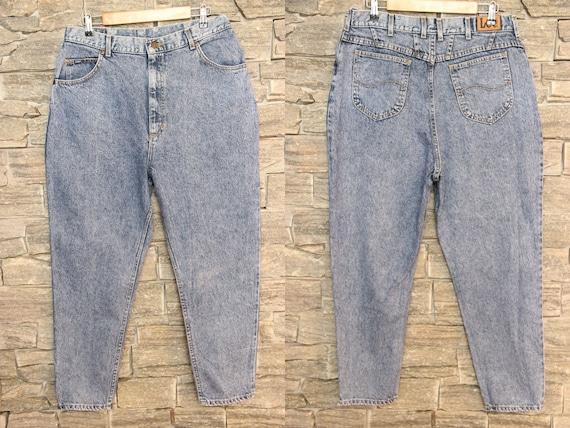 Vintage High Waist Lee Riders Jeans , 35 Waist Lee