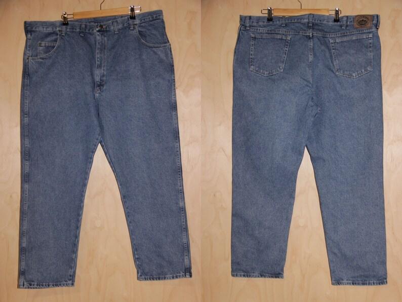 c1fae1842c4 Vintage Plus size WRANGLER Jeans Wrangler 46 47 Waist Jeans