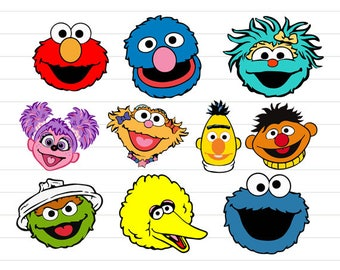 photo relating to Printable Sesame Street Characters called Sesame figures Etsy
