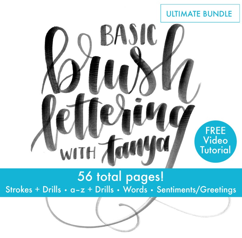 For Beginners Ultimate bundle-brush lettering brush image 0