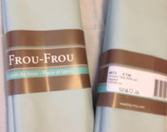 Faux leather blue green color fabric
