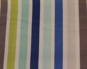 Fabric by Riley Blake blue and lime green stripes