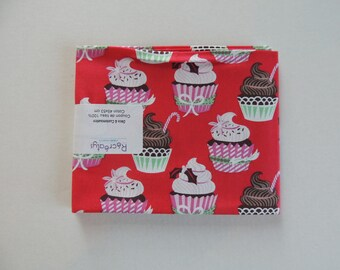 Coupon American patchwork pattern cupcake bottom red fabric