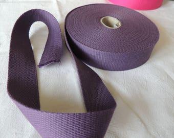 Strap bagagere, cotton, purple color, width 30 mm