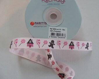 Grosgrain Pink Ribbon light pattern Christmas