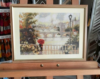 """Embroidered picture """"Dawn over Paris"""""""