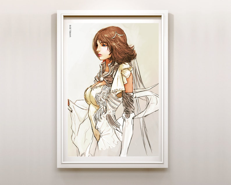 Poster Final X Playstation Print Art Enix Fantasy Yun Ffx Square jqR354ALcS