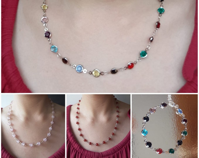Necklaces and rosary bracelets