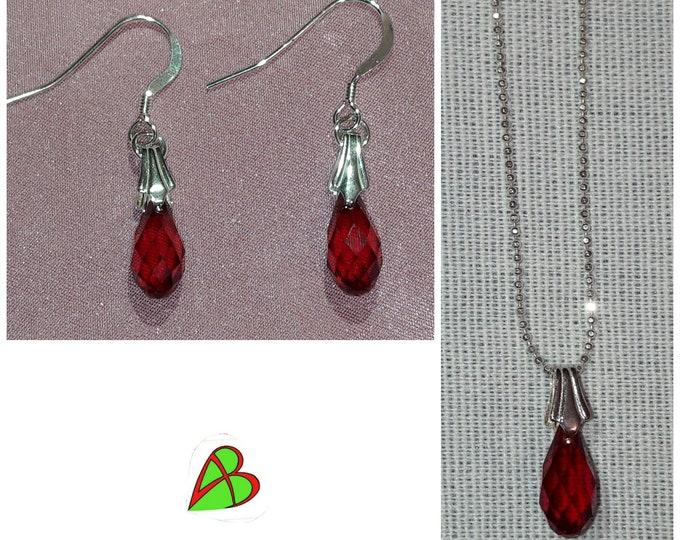 Swarovski Red Drop Jewelry - Swarovski Red Drop Jewels