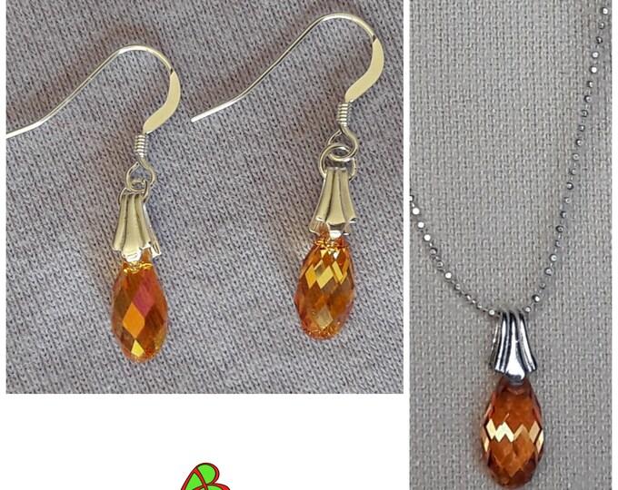 Swarovski Orange Drop Jewelry - Swarovski Orange Drop Jewels