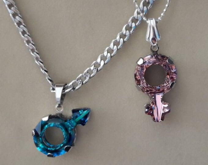 LEI and LUI necklace - Swarovski