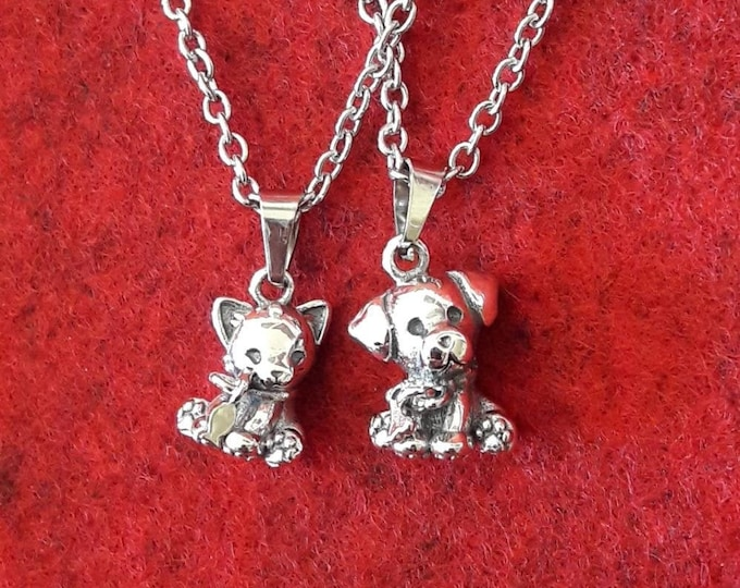 Kitty and Doggy necklace