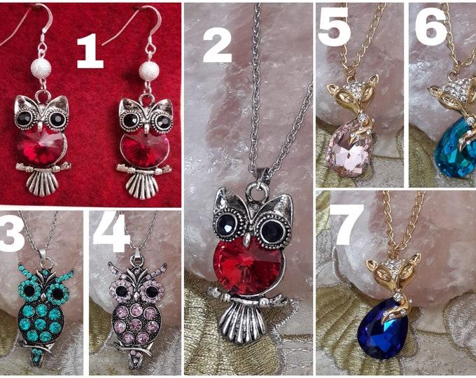 Owl and Fox Jewelry