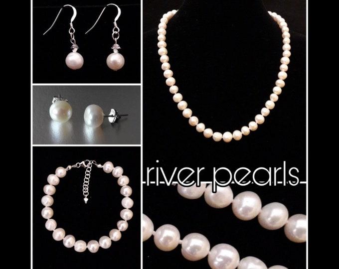Gioielli Perle di Fiume Bianche - White River Pearls Jewels