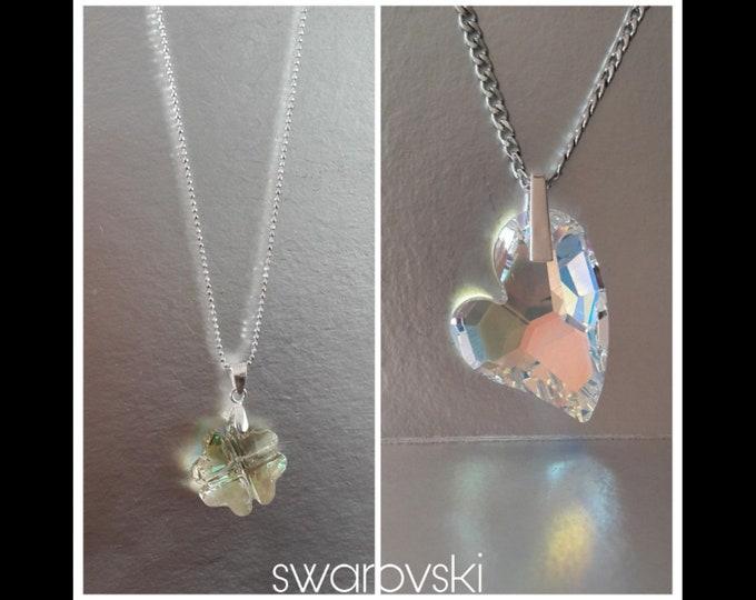 Quadrifoglio e Cuore necklace - Swarovski