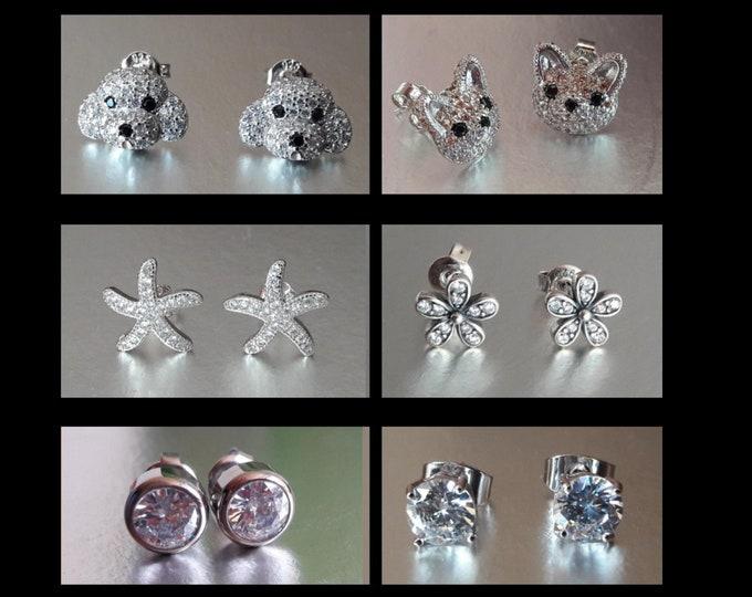 Pearl earrings - various patterns