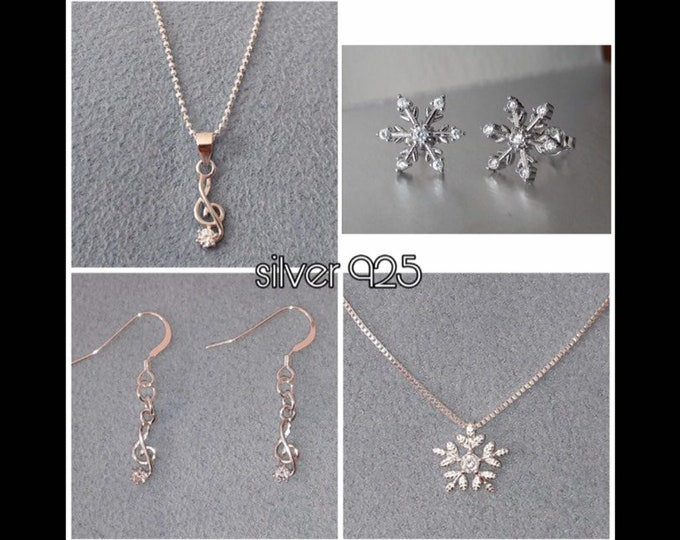 Jewelry Musical Note and Snowflake - Parure