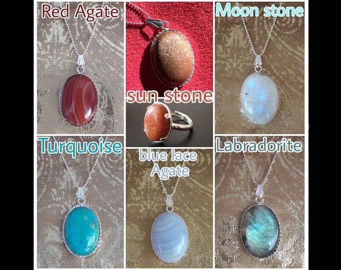 Hard Stones pendants - Precious Stones charms