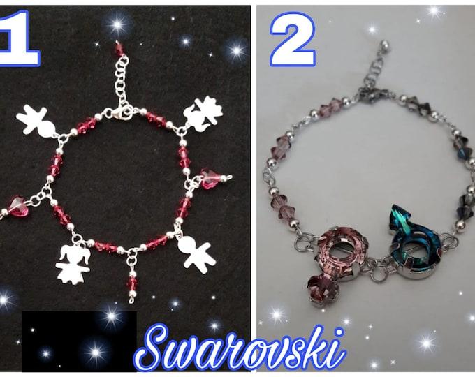 Braccialetti Swarovski - Swarovski Bracelets Lovely Kids & Uni-sex