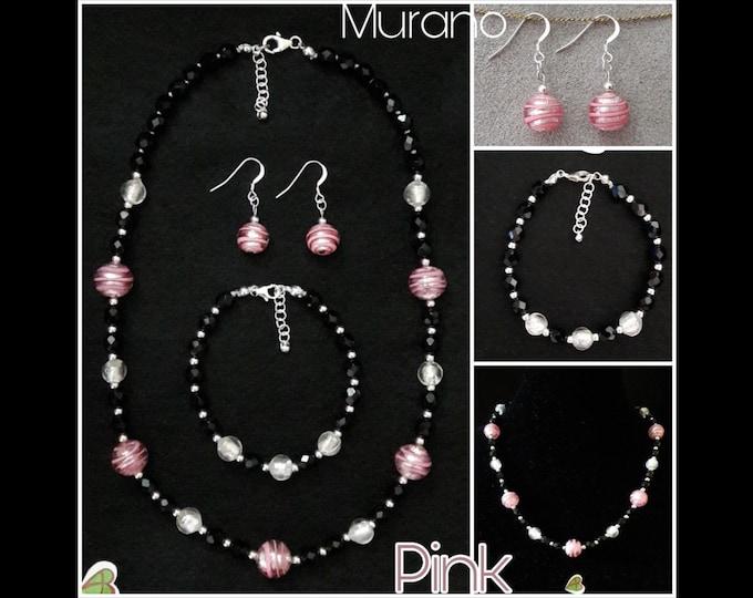 Murano Pink Jewelry - Murano Pink Jewels