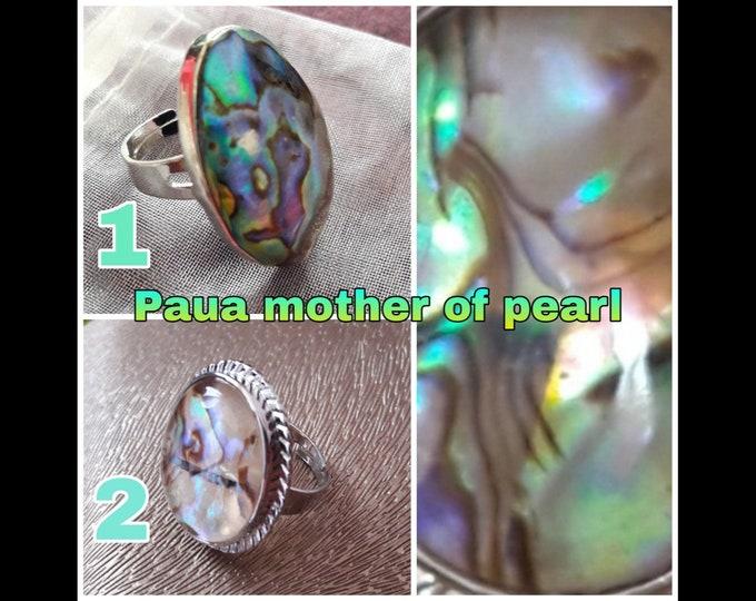 Anelli in Madreperla Paua - Paua Mother of Pearl Rings