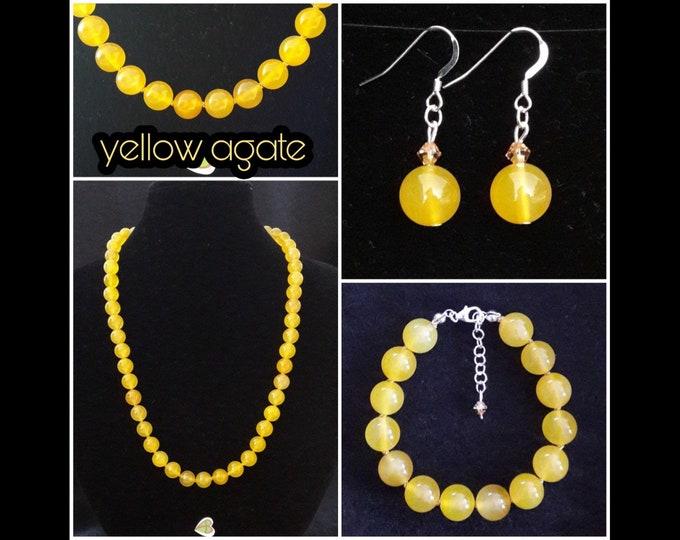 Yellow Agate Jewelry / Yellow Agate Jewels