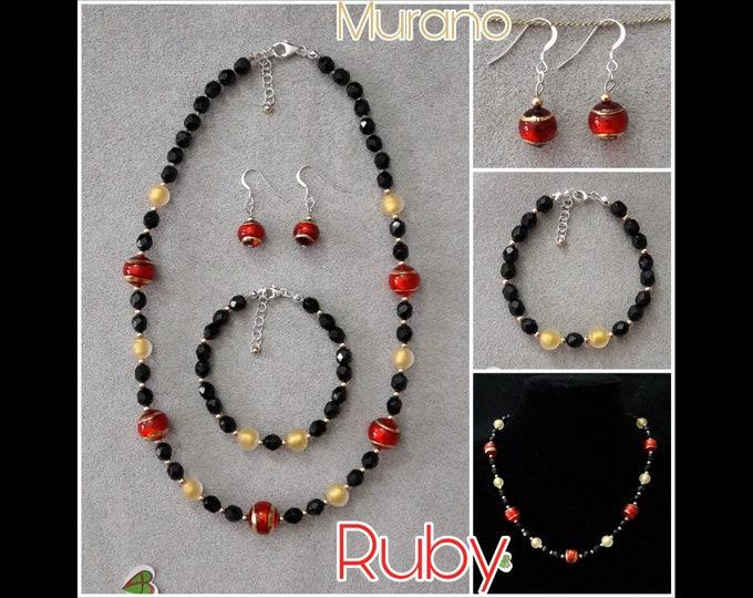Gioielli Murano Ruby - Murano Ruby Jewels