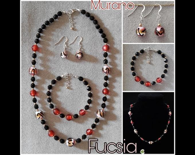 Gioielli Murano Fuchsia - Murano Fuchsia Jewels