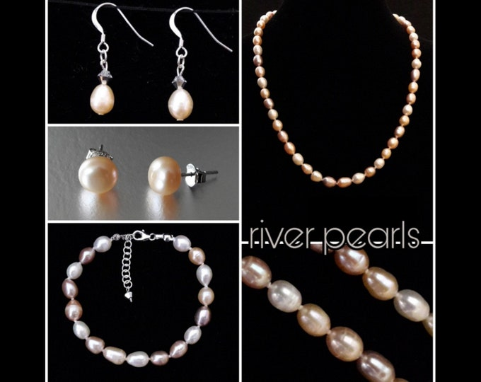 Pink River Pearl Jewelry (mix color) - Mix Color Pink River Pearls