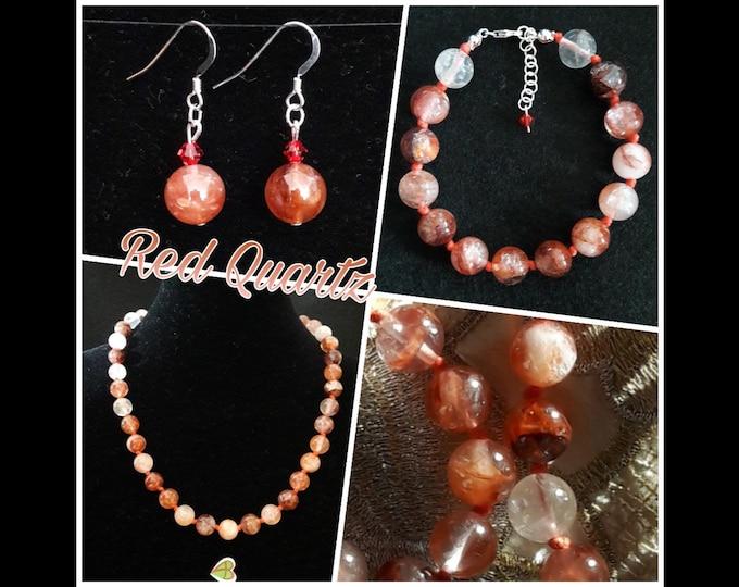 Red Quartz Jewelry - Red Quartz Jewels