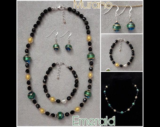 Murano Emerald Jewelry - Murano Emerald Jewels