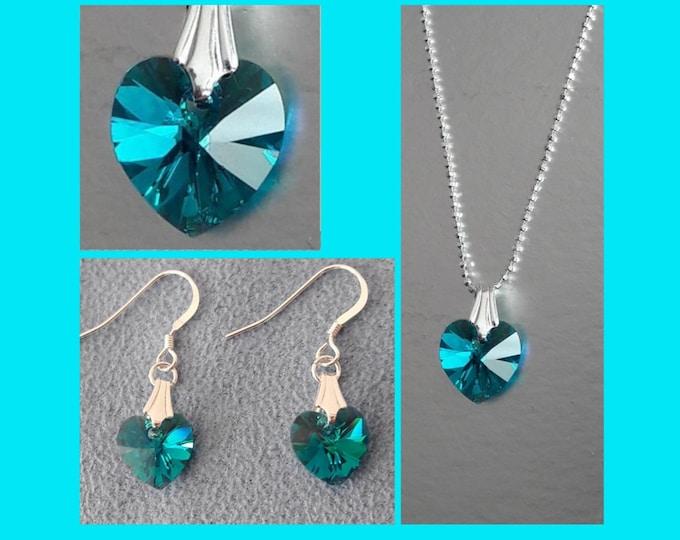 Swarovski Blue Hearts Jewelry - Swarovski Jewels