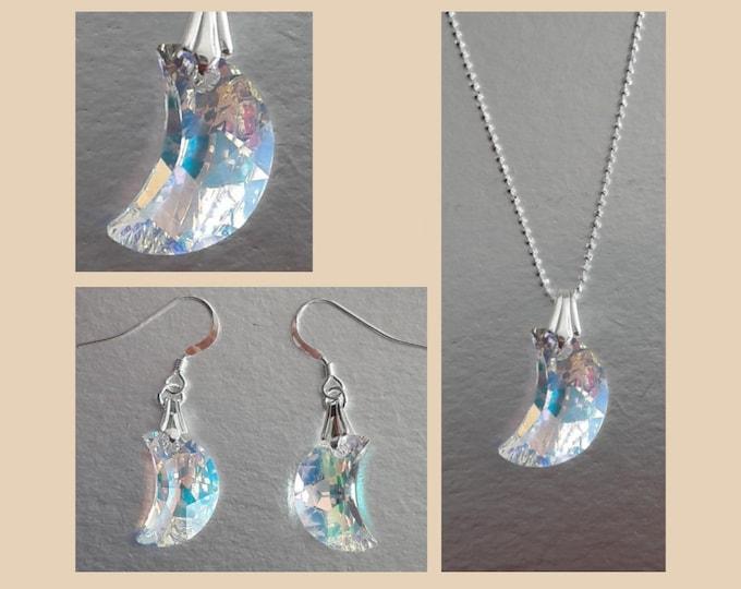 Swarovski Crystal Moon Jewelry - Swarovski Jewels