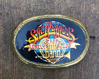 Vintage 1978 Sgt. Peppers Lonely Hearts Club Band belt buckle